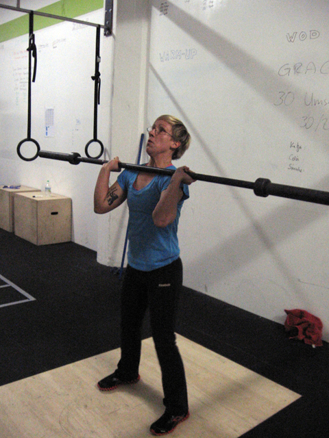 CrossFit Werk Berlin Katja Push Press Grace